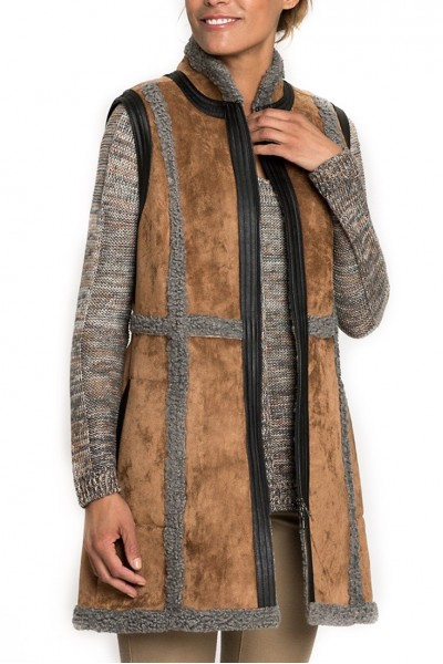 Nic+Zoe -  Sleeveless Coat Heritage Vegan Vest