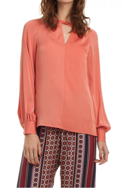 Trina Turk - Women's Button Cuff Blouse Maritsa Top - Silk