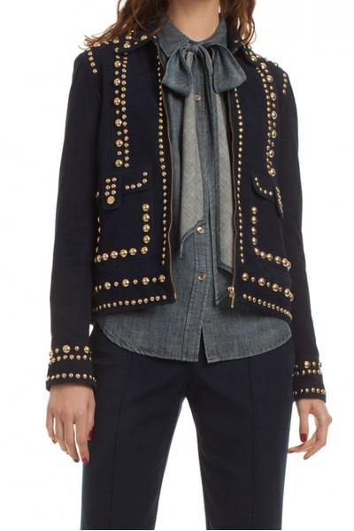 Trina Turk - Women's Studded Coat Rosewood Jacket - Indigo