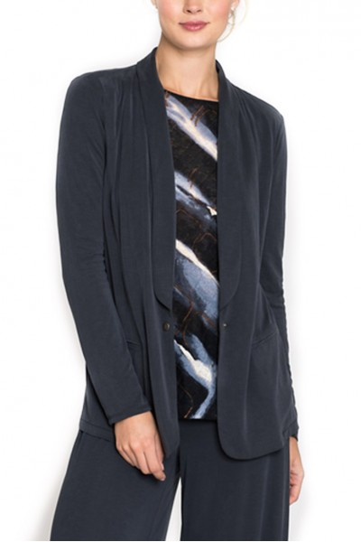 Nic + Zoe -  Seasonless Blazer Jacket - Washed Midnight