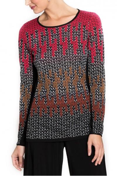 Nic + Zoe - Women's Sweater Sunset Knit Top - Multi