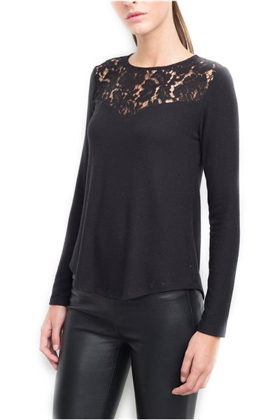 Generation Love - Women's Ainsley Open Back Lace Top - Black