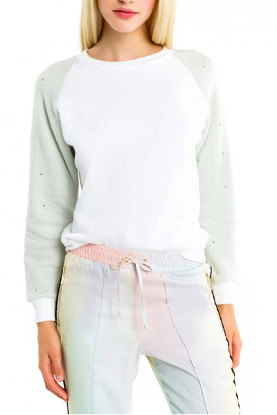 Wildfox - Women's Glitz Sleeve Junior - Clean - White - Melange - Aqua