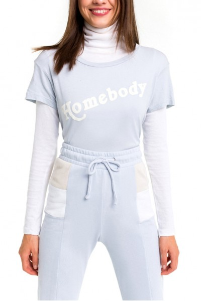Wildfox - Women's Homebody Pinhole No9 Tee - Blue - Ribbon