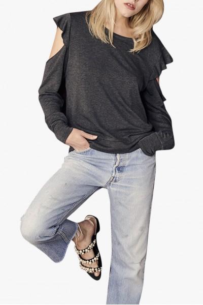 LNA - Women's Soko Sweatshirt - Anthracite