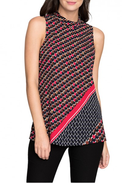Nic + Zoe - Women's Mixed Dots Tank - Multi