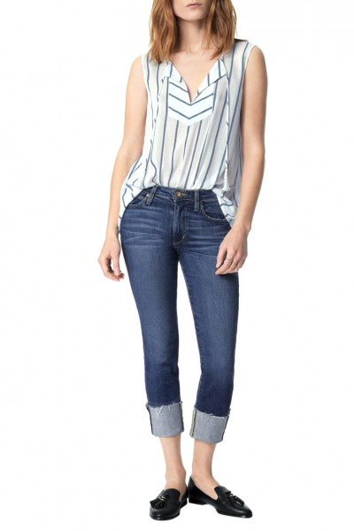 Joe's - Women's The Clean Cuff Midrise Skinny Crop - Lynda