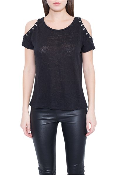 Generation love - Women's Raegan Lace Up Tee - Grey