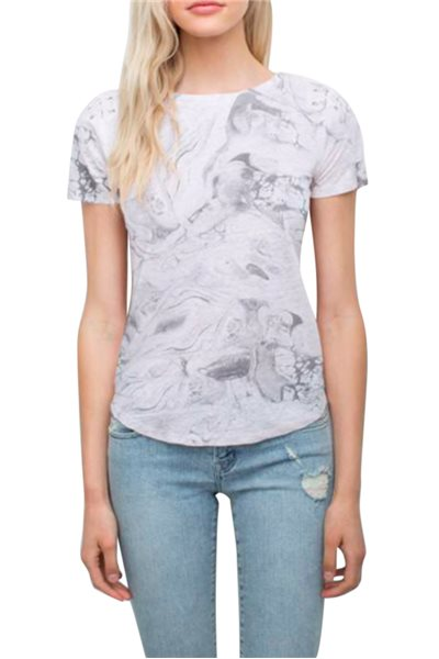 Generation love - Women's Graham Lace Up Tee - Marble