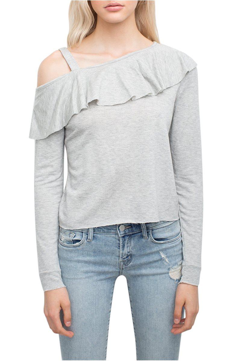 Generation love - Women's Randy Ruffle Sweatshirt - Grey