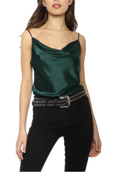 L'Academie - Women's Cowl Cami - Emerald