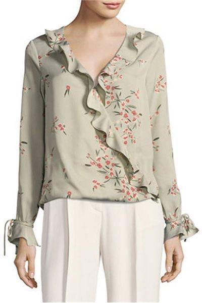 L'Academie - Women's Austen Blouse - Sage - Blossom