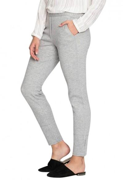 Nic + Zoe - Women's Modern Knit Pant - Heather - Grey