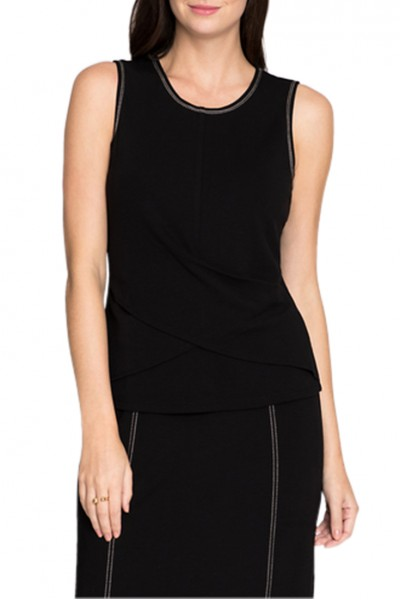 Nic + Zoe - Women's Break Out Top - Black Onyx