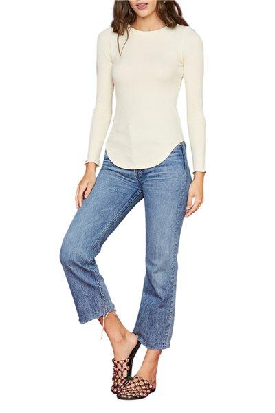 LNA - Women's Knit Top Sloane Thermal - Natural