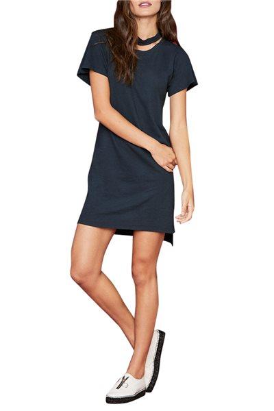LNA - Women's Tea Dress Choker Tee Dress - Vulcan