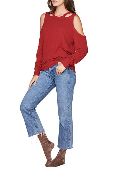 LNA - Women's Cardigan Earl Sweater - Merlot