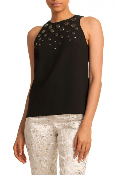 Trina Turk - Women's Tank Juna Top - Black