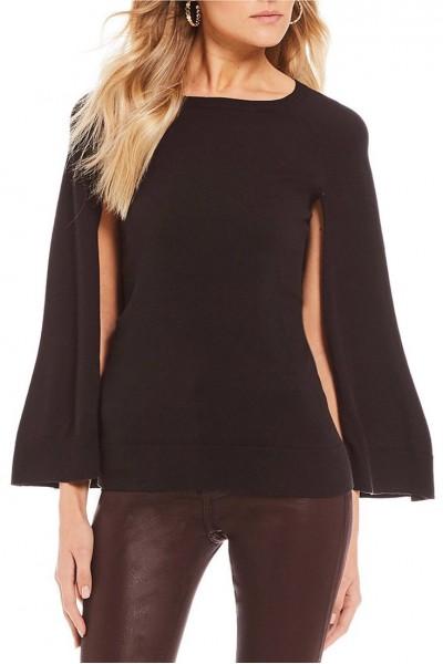 Trina Turk - Women's Sweatshirt Fern Dell Sweater - Black
