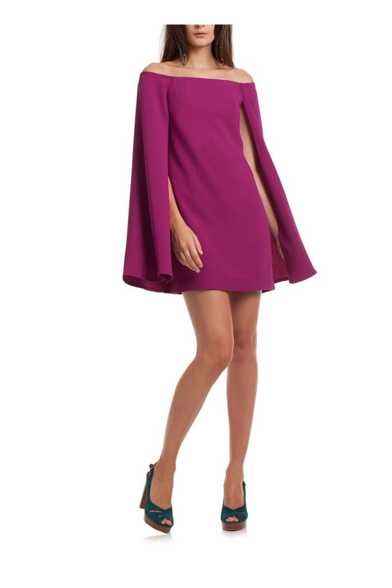 Trina Turk - Women\'s Evening Gown Sculpture Dress - Plum