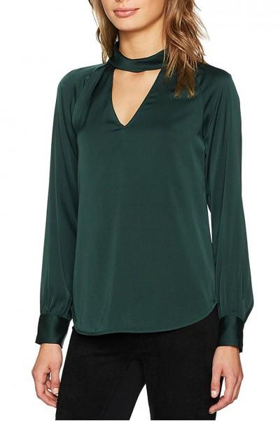 Trina Turk - Women's Knit Top Choker Top - Forest Green