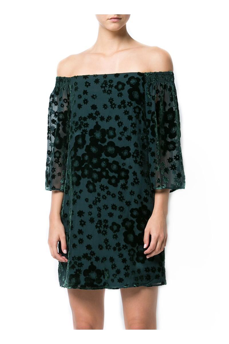 Trina Turk - Women's One Shoulder Shoulder Dress - Forest Green