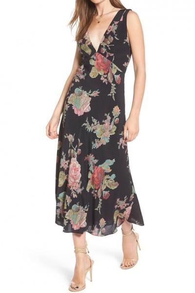 Privacy Please - Women's Maria Dress - Black - Leila - Floral