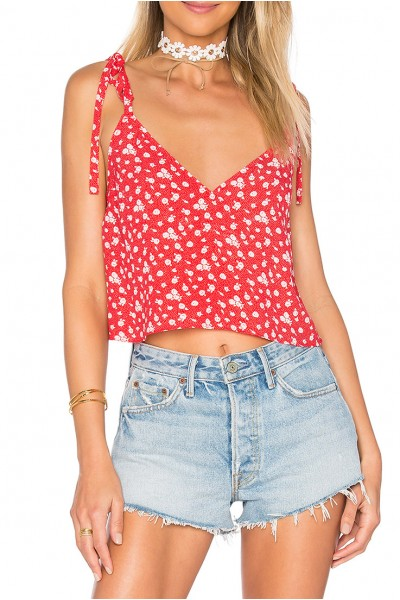 Privacy Please - Women's Clarkson Top - Red