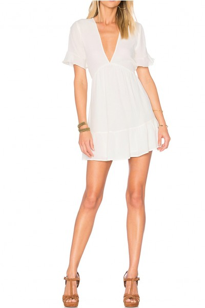 Privacy Please - Women's Central Dress - White