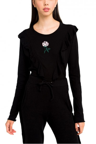 Wildfox - Women's Tea Rose Lucienne Long Sleeve - Black