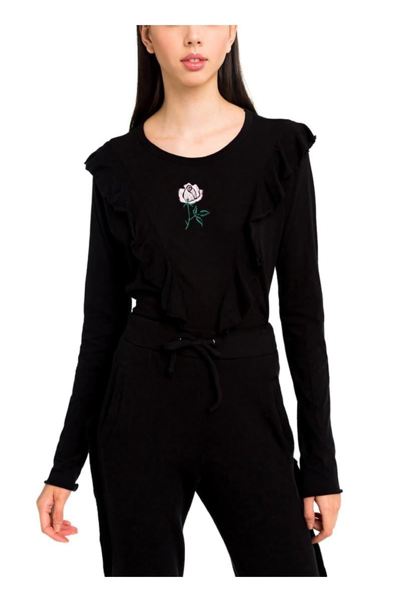 Wildfox - Women's Tea Rose Lucienne Long Sleeve - Black