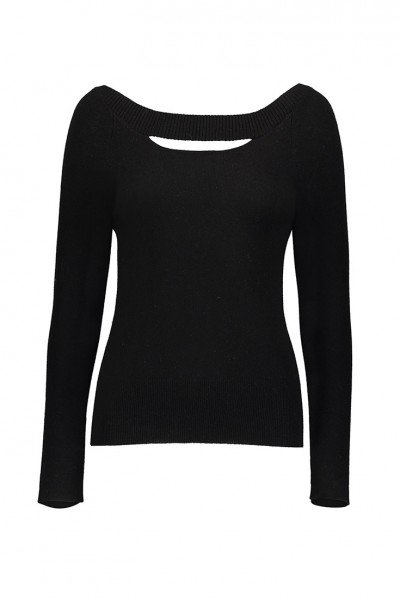 Raffi - Womens Pure Cashmere Cut Out Reversible - Black
