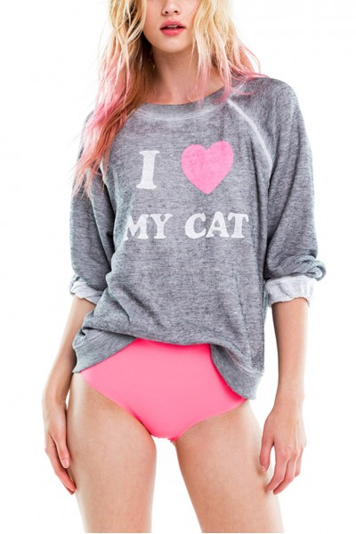 Wildfox - Women's Cat Mom Sommers Sweater - Heather