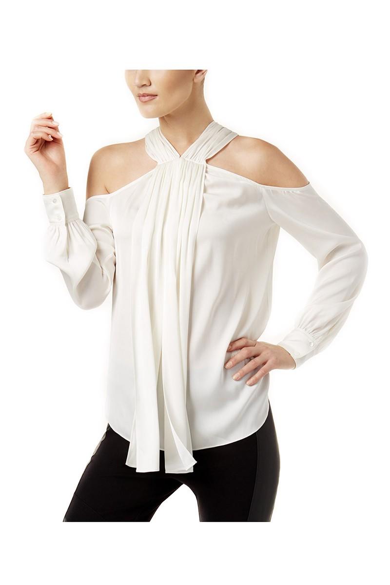 Trina Turk - Women's Mitchell Cold Shoulder Top - White