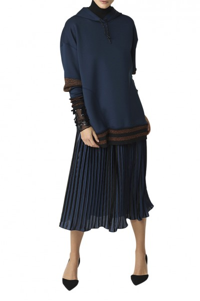 Malene Birger - Womens Cornelias Skirt - Blue Velvet