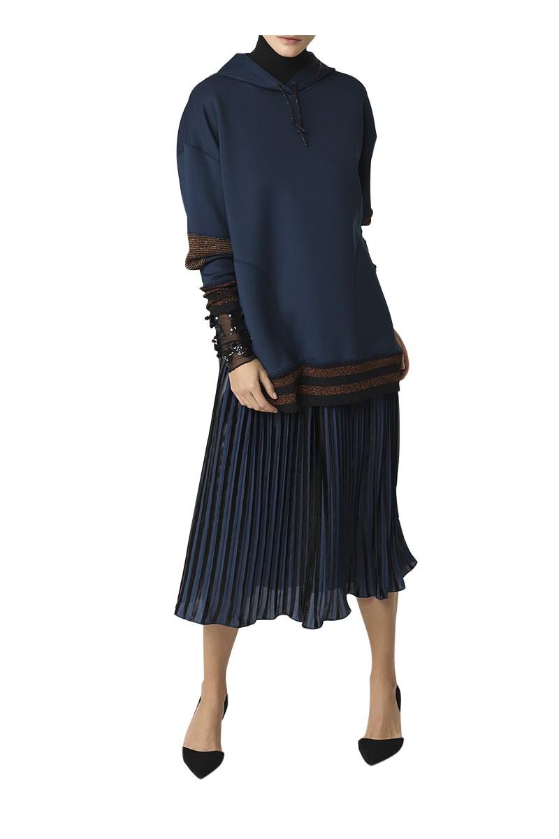 Malene Birger - Womens Cornelias Skirt - Blue Velvet