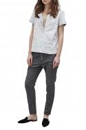 Sack's - Mika Leather T-shirt - Quartz