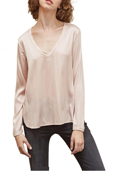 Sack's - Noa V neck Top - Rose