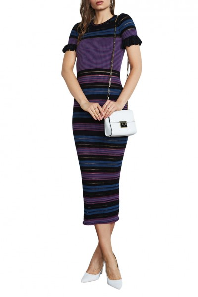 Ronny Kobo - Carolissa Dress - Berry - Stripe