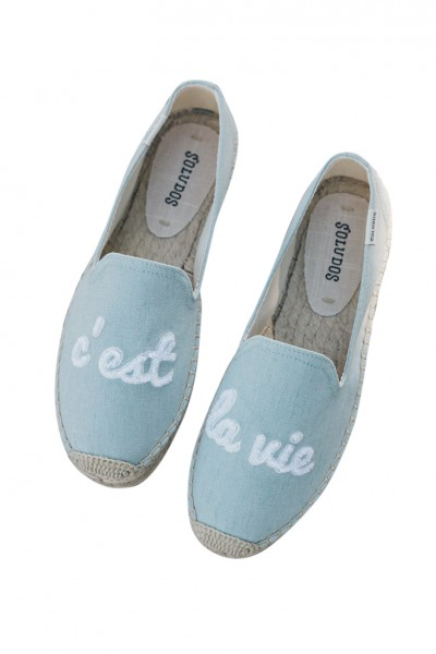 Soludos - Women's Cest La Vie Smoking Slipper - Chambray