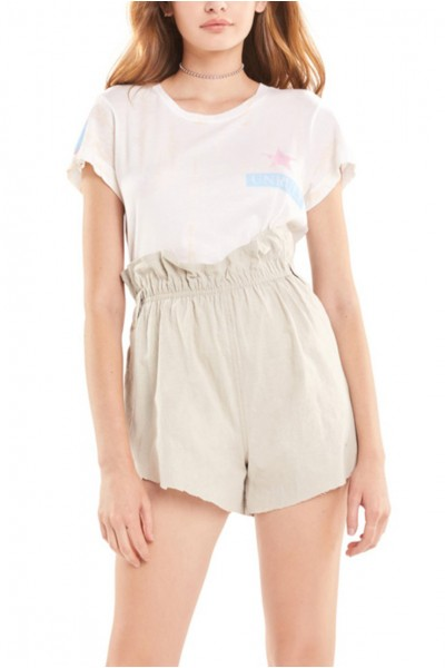 Wildfox - Women's Unruly No9 Tee - Nude Haze Stripe