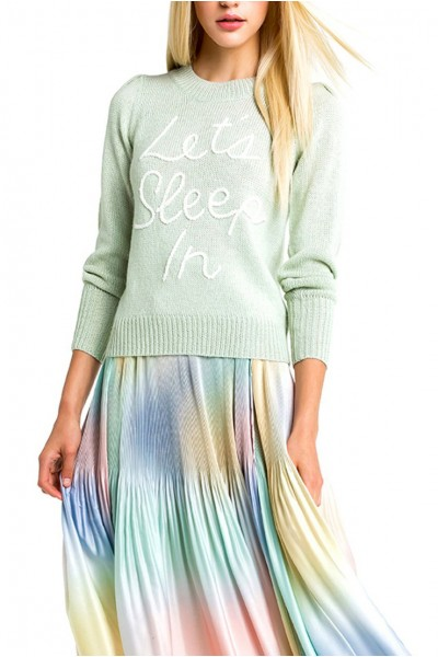 Wildfox - Women's Sleep In Lou Sweater - Melange Aqua