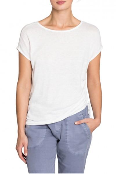 Nic+Zoe - Women's Refreshion Side Tie Top - Paper White