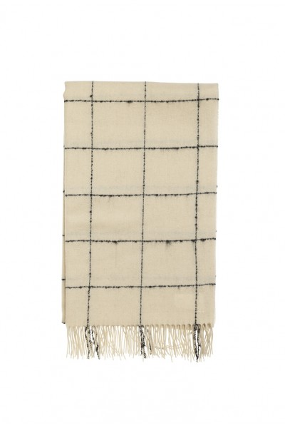 Malene Birger - Printed Scarf - Soft White