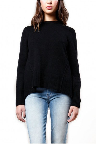 Brochu Walker - Women's Keller Layered Pullover - Black Onyx