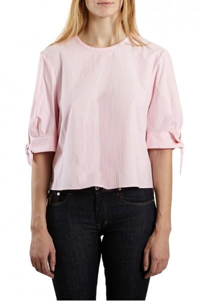 Tara Jarmon - Women's Striped Poplin Top - Pink