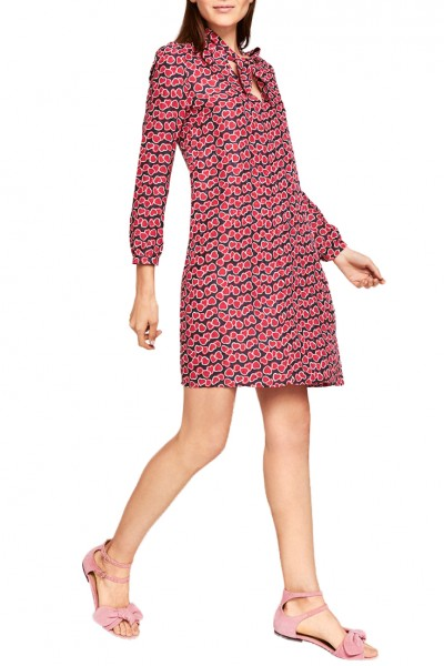 Tara Jarmon - Women's Floaty Heart Print Dress - Midnight Blue