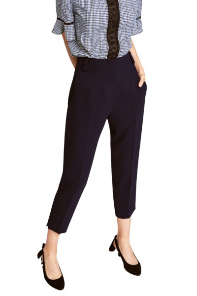 Tara Jarmon - Women's Double Cloth Trousers - Midnight Blue