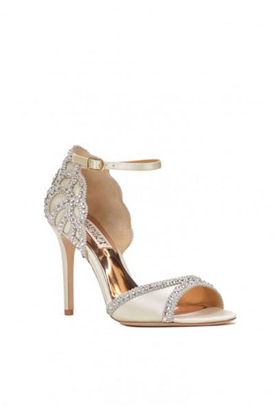 Badgley Mischka - Women's Roxy Ankle Strap Evening Shoe - Nude
