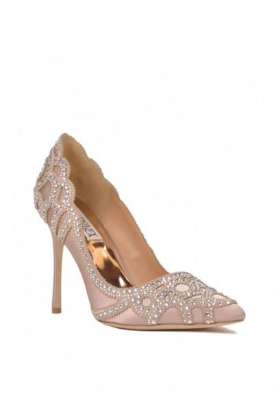 Badgley Mischka - Women's Rouge Embellished Evening Shoe - Latte